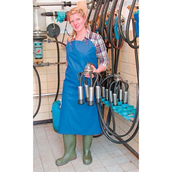 und Waschschürze blau 100 x 125 Melk
